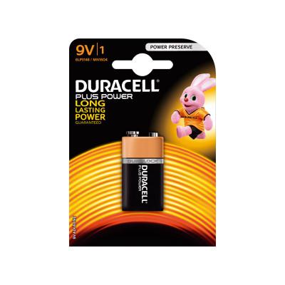 Pila alcalina Duracell Plus 9 v petaca 6F22