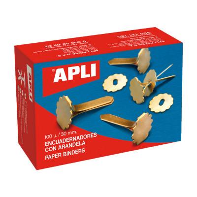 Encuadernador metálico con arandela Apli 12288