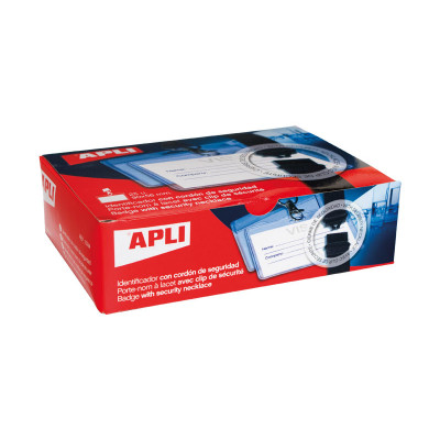 Identificador portanombres con cordón de seguridad Apli 11744