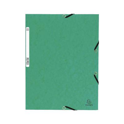 Carpeta con gomas y solapas cartulina lustrada A4 Exacompta  55303E