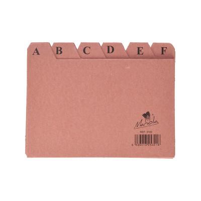 Separadores abecedario para ficheros de cartón Mariola 3103