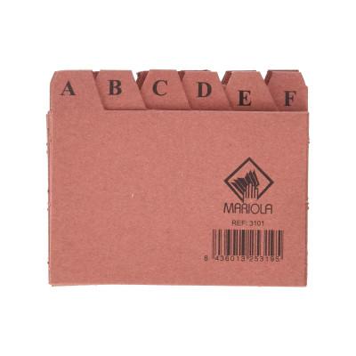 Separadores abecedario para ficheros de cartón Mariola 3101