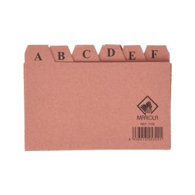 Separadores abecedario para ficheros de cartón Mariola 3102