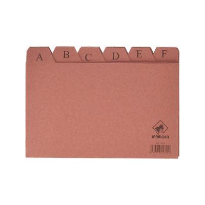 Separadores abecedario para ficheros de cartón Mariola 3104