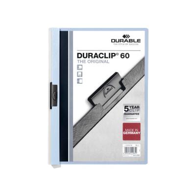 Dossier con clip metálico A4 60 hojas Durable Duraclip 220906