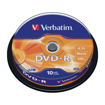 DVD-R grabable 4,7Gb Verbatim Matt Silver 43523