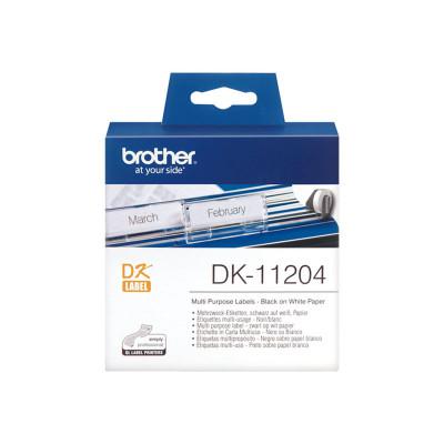 Etiquetas precortadas para impresoras Brother QL DK-11204