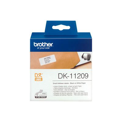 Etiquetas precortadas para impresoras Brother QL DK-11209