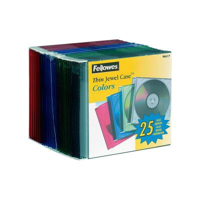 Caja CD/DVD Slim Fellowes 98317