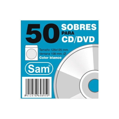 Sobres para CD blanco Sam PAQ.50 CD