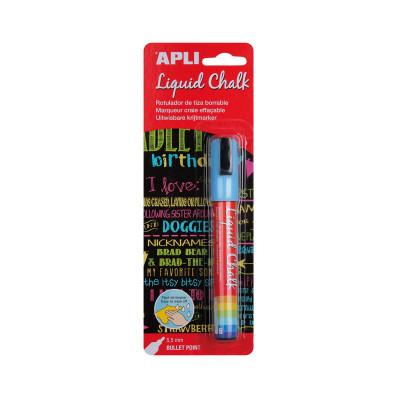 Rotulador de tiza líquida punta cónica Apli Liquid Chalk 13955