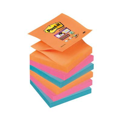 Bloc de notas adhesivas Post-it Z-Notes Super Sticky colores Bangkok 76x76mm R330-6SS-EG