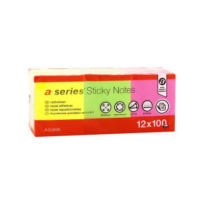 Bloc de notas adhesivas fluorescentes A-Series AS0890