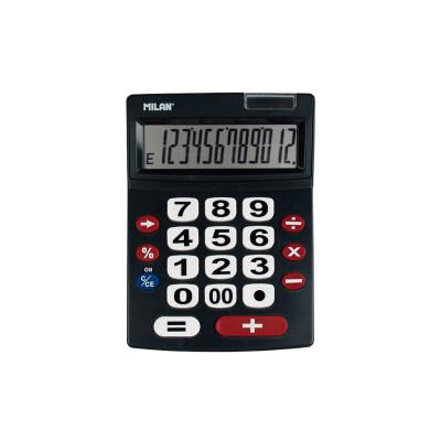 Calculadora de sobremesa extra grande rojo/blanco 12 dígitos Milan 151712BL