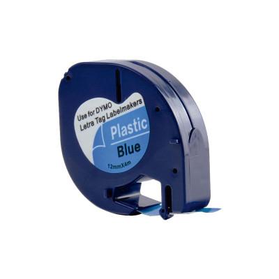 Cinta rotuladora electrónica Dymo Letratag 12mm 91205