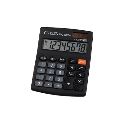 Calculadora de sobremesa 8 dígitos Citizen SDC-805BN SDC-805NR
