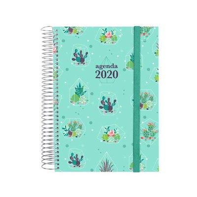 Agenda espiral día página Finocam Cactus 15,5x21,2cm 742311720