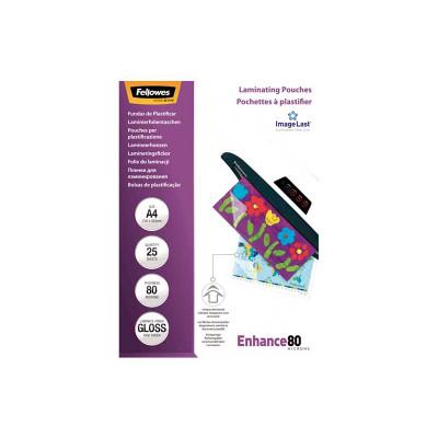 Fundas para plastificar 80 micras brillo Fellowes Enhance 5396205