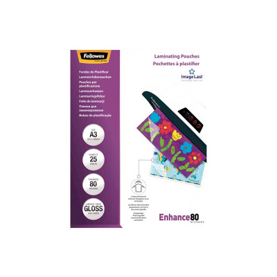 Fundas para plastificar 80 micras brillo Fellowes Enhance 5396403
