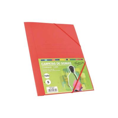 Carpeta con gomas y solapas cartón folio colores Fabrisa 15826