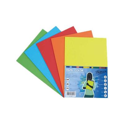 Papel multifunción A4 de colores surtidos intensos Fabrisa 16328
