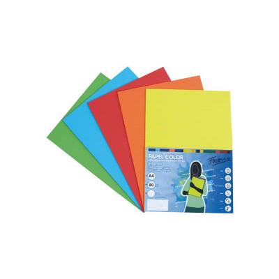 Papel multifunción A4 de colores surtidos intensos Fabrisa 16330