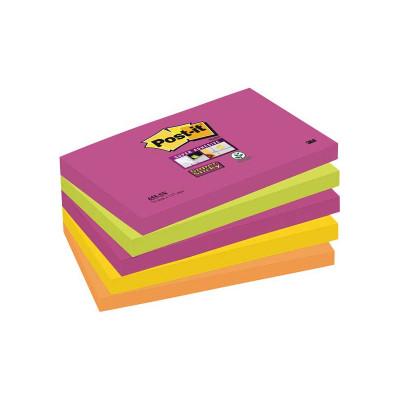 Bloc de notas adhesivas Post-it Super Sticky colores Cape Town 655S-NN
