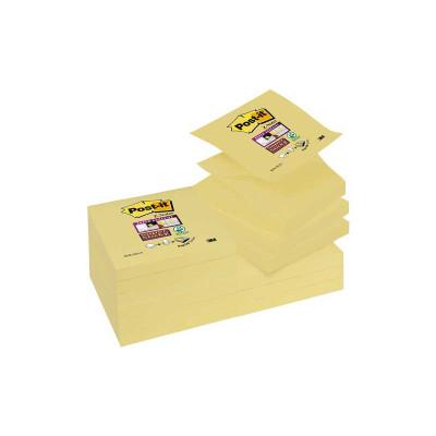 Bloc de notas adhesivas zig zag Post-it Z-Notes Super Sticky R330-12SS-CY