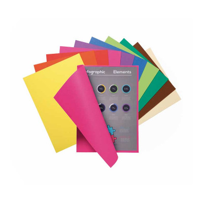 Subcarpeta A4 papel reciclado colores vivos Exacompta Forever Flash 80 150001E