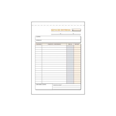 Talonario de notas de entrega Loan T-92