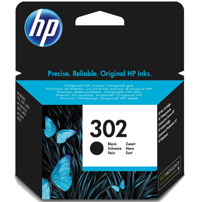 Cartucho inkjet HP 302 negro 190 páginas F6U66AE