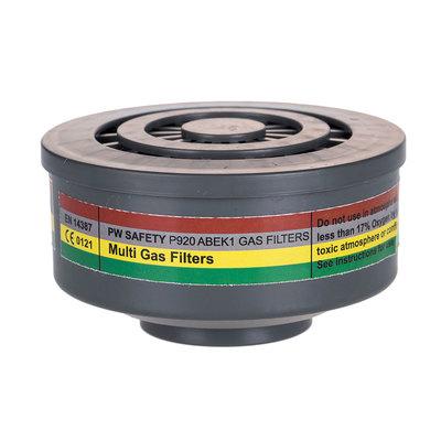Filtro de gases ABEK1 con conexión de rosca especial P920GRR