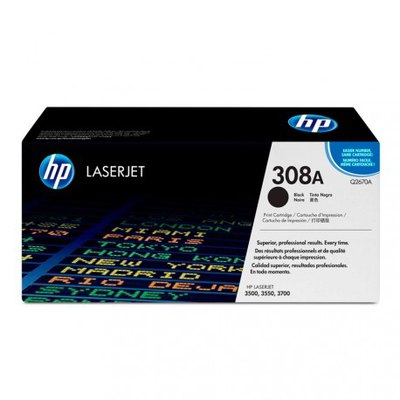 Tóner HP 308A negro 6000 páginas Q2670A