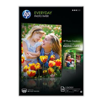 Papel fotográfico inkjet satinado A4 200g Hp