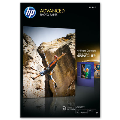 Papel fotográfico inkjet satinado A3 250g HP Advanced Q8697A