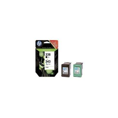 Pack de 2 cartuchos inkjet HP 338 negro/343 tri-color 480/330 páginas SD449EE
