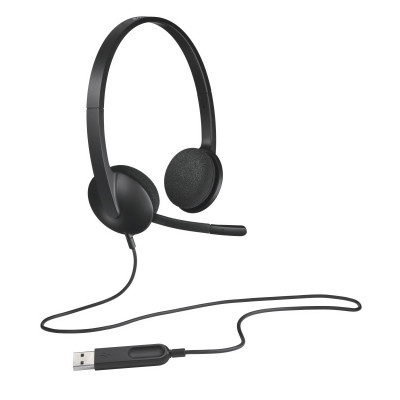 Auriculares Logitech H340 Negro Microfono Alambrico Usb 981-000475