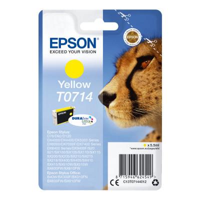 Cartucho inkjet Epson T0714 Amarillo  C13T07144010