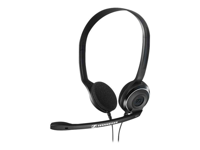 Sennheiser PC 8 USB - Auriculares de diadema abiertos USB (micrófono con cancelación de ruido, sonid