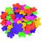 Figuras goma EVA adhesivas flores Smart