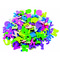 Figuras goma EVA adhesivas letras y números Smart