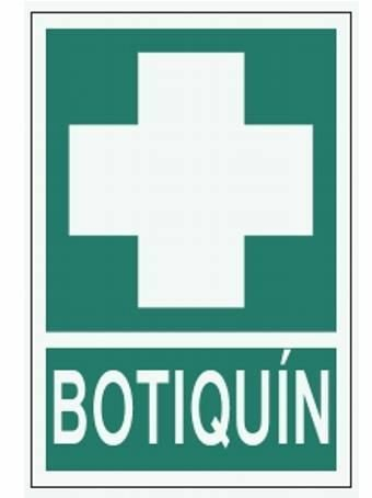 Cartel A4 Luminiscente Botiquín A4 luniniscente