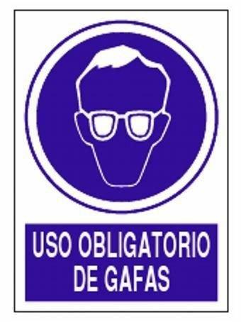 Cartel de Obligacion Uso de Gafas 210 x 297
