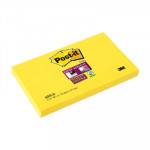 Bloc de notas adhesivas Post-it Super Sticky 76x127mm amarillo canario