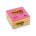 Cubo de notas adhesivas Post-it neón rosa-amarillo