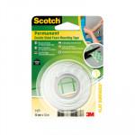 Cinta adhesiva de doble cara blanca Scotch 19X1,5mm