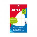 Etiquetas adhesivas manual Apli 01651