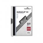 Dossier con clip metálico A4 60 hojas Durable Duraclip gris