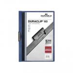 Dossier con clip metálico A4 60 hojas Durable Duraclip azul oscuro