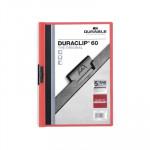 Dossier con clip metálico A4 60 hojas Durable Duraclip rojo